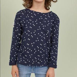 NWT H&M Dark Blue Long Sleeve Top 18-24mo